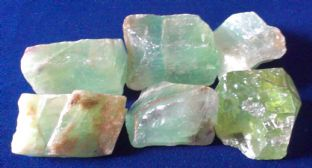 Calcite - Green - Rough (2-3cm) x 6